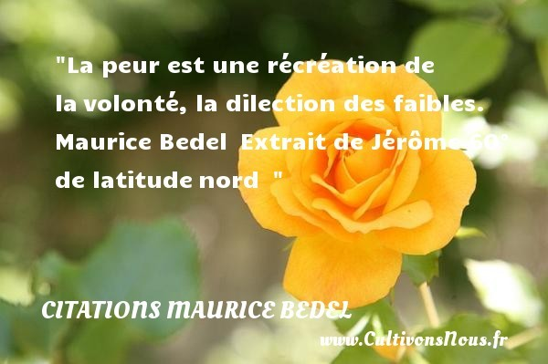 citations maurice bedel