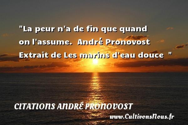 citations andré pronovost