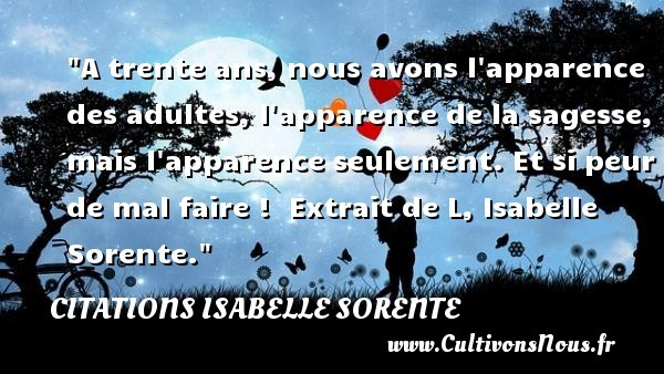 citations isabelle sorente