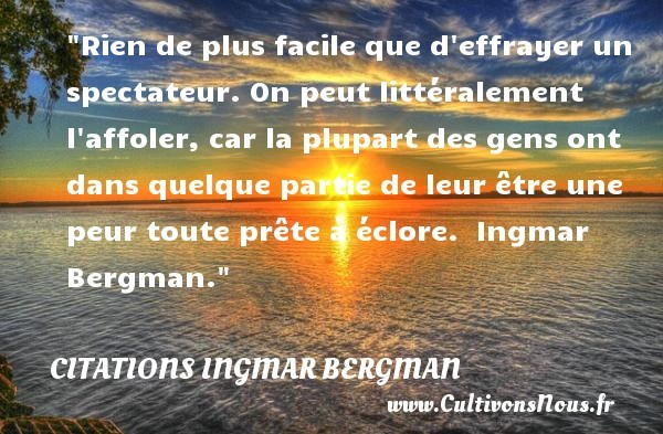 citations ingmar bergman