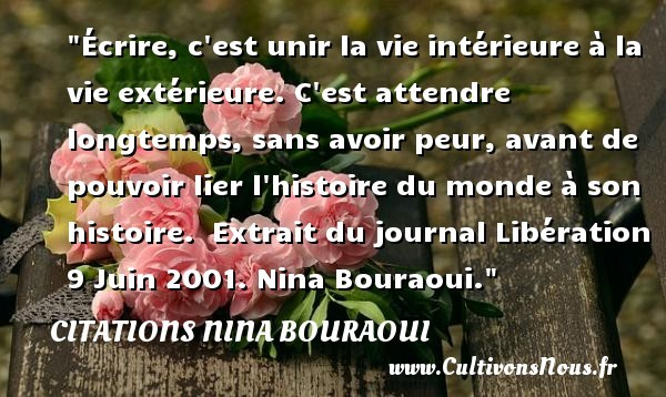 citations nina bouraoui