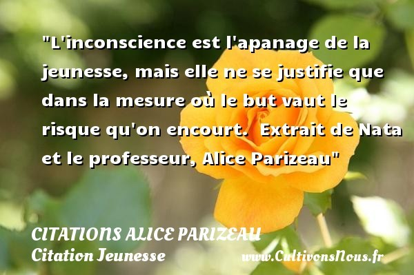 citations alice parizeau