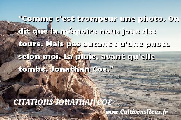citations jonathan coe