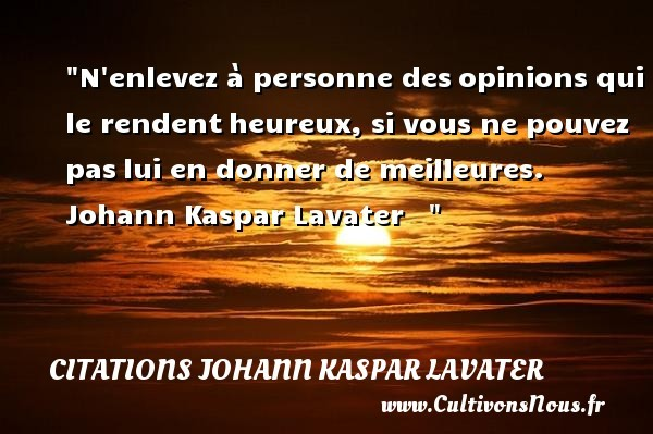 citations johann kaspar lavater