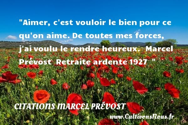 citations marcel prévost