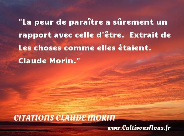 citations claude morin