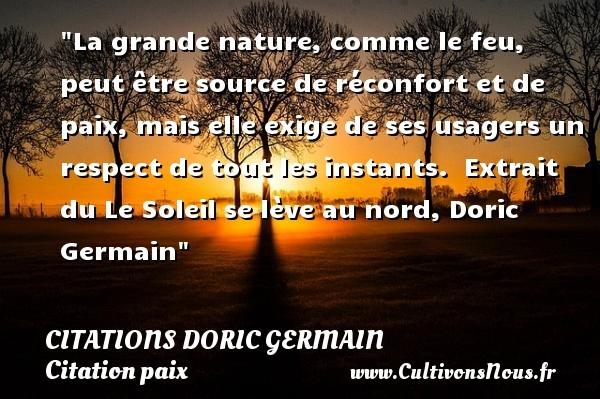 citations doric germain