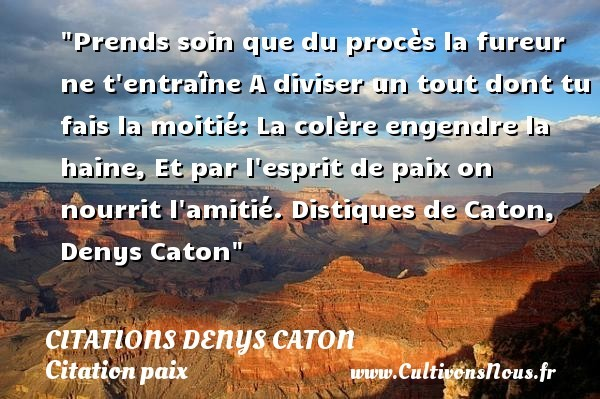 citations denys caton