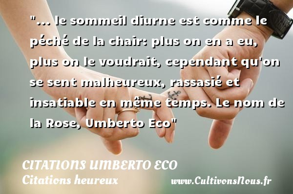 citations umberto eco