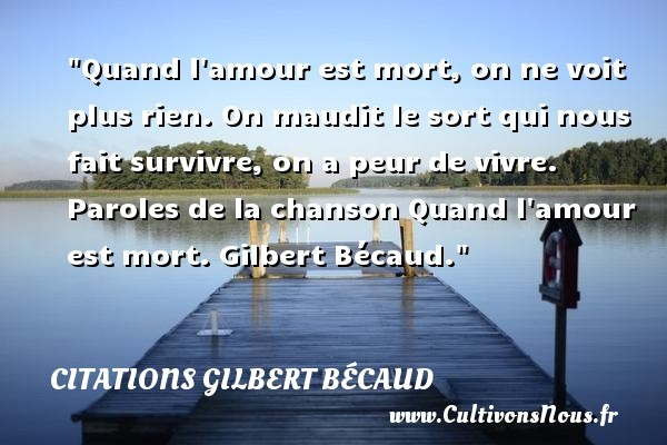citations gilbert bécaud