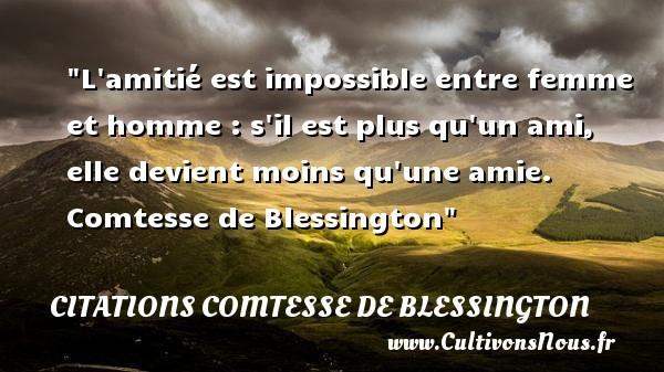 citations comtesse de blessington