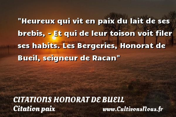 citations honorat de bueil