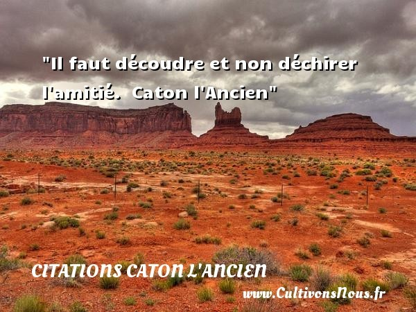 citations caton l'ancien