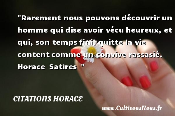 citations horace