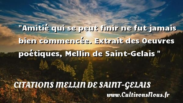 citations mellin de saint-gelais