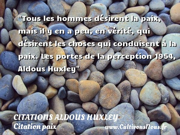 citations aldous huxley