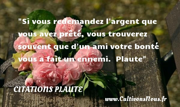 citations plaute