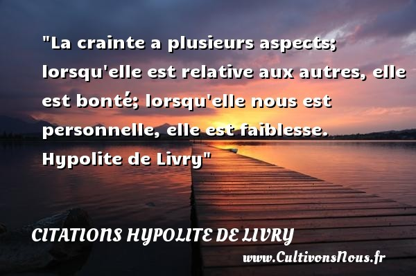 citations hypolite de livry