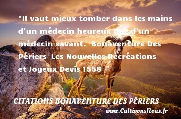 citations bonaventure des périers