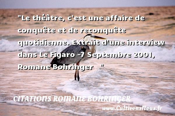 citations romane bohringer