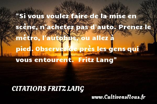 citations fritz lang