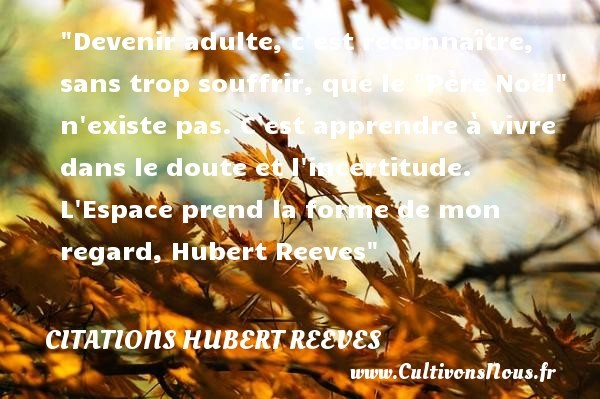 citations hubert reeves