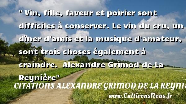 citations alexandre grimod de la reynière