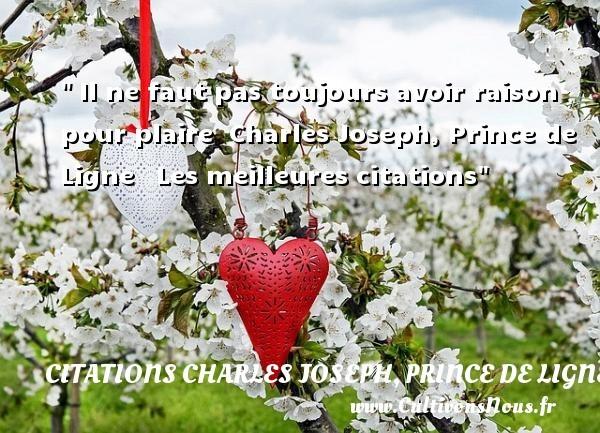 citations charles joseph, prince de ligne