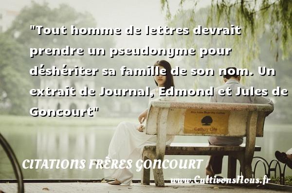 citations frères goncourt