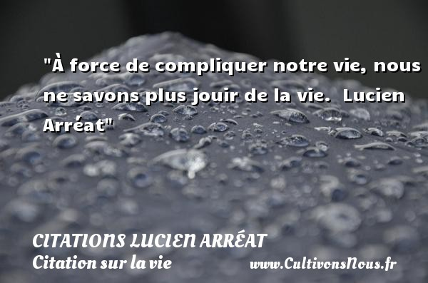 citations lucien arréat