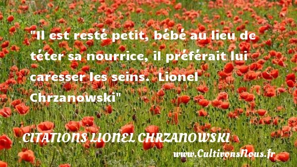 citations lionel chrzanowski