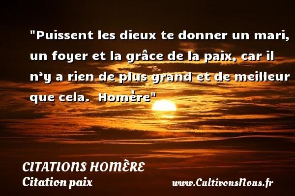 citations homère