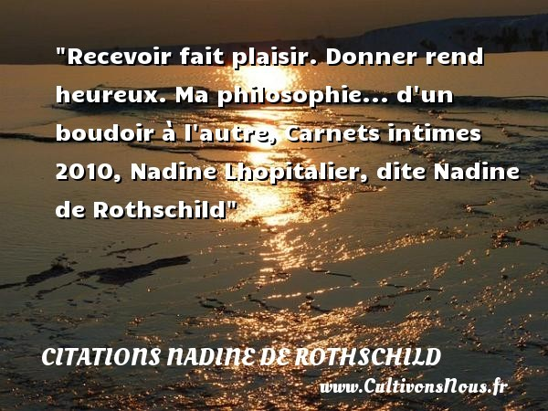 citations nadine de rothschild