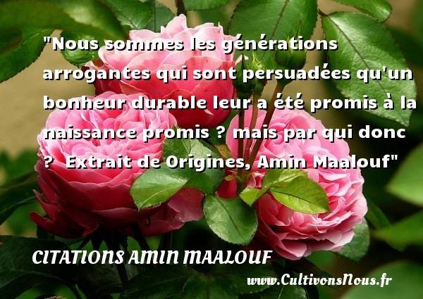 citations amin maalouf