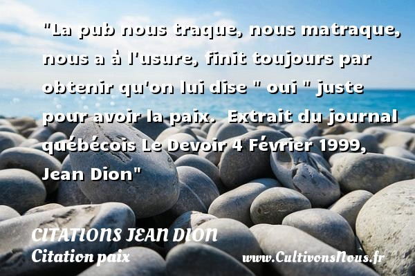 citations jean dion