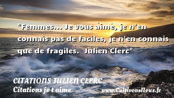 citations julien clerc