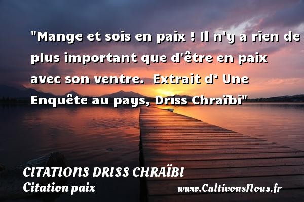 citations driss chraïbi
