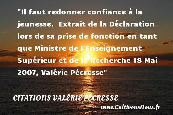 citations valérie pécresse