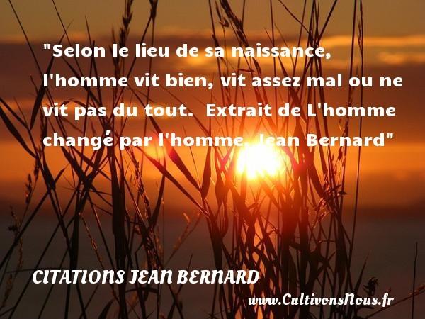 citations jean bernard