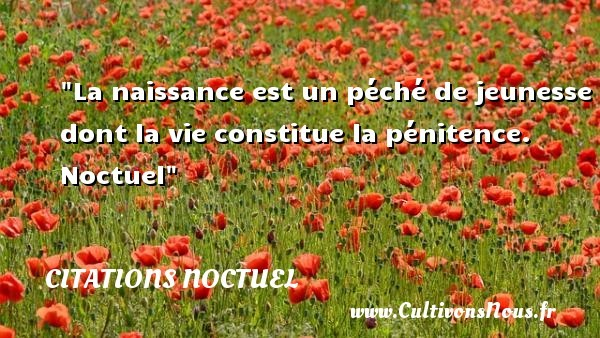 citations noctuel
