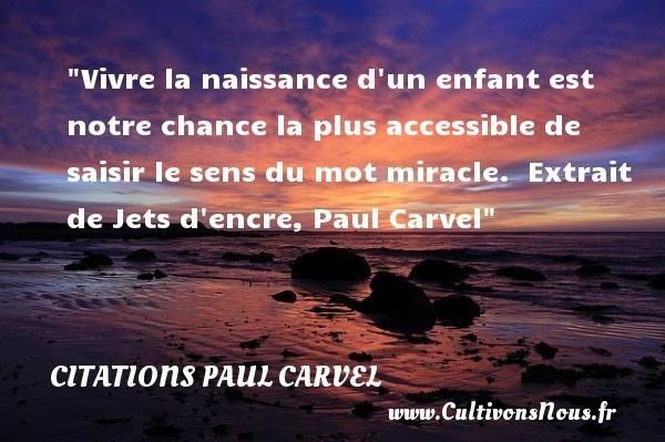 citations paul carvel