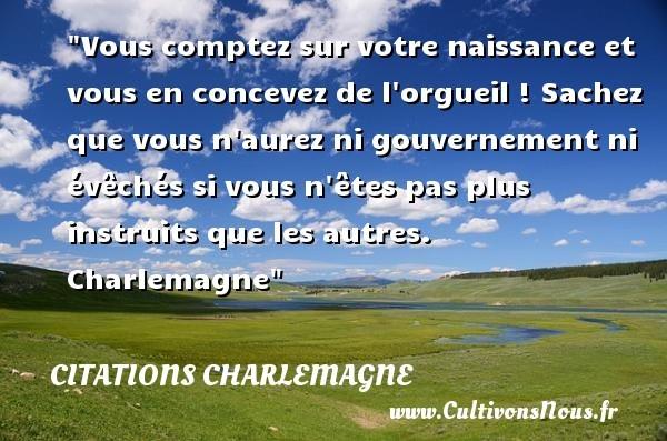 citations charlemagne