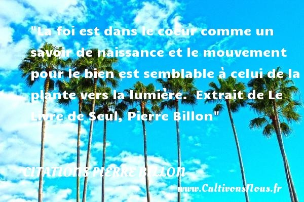 citations pierre billon