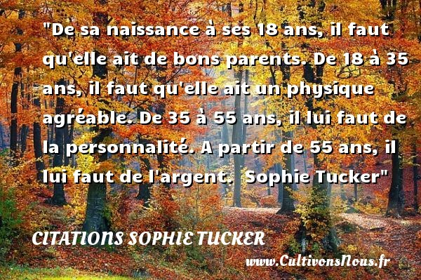 citations sophie tucker