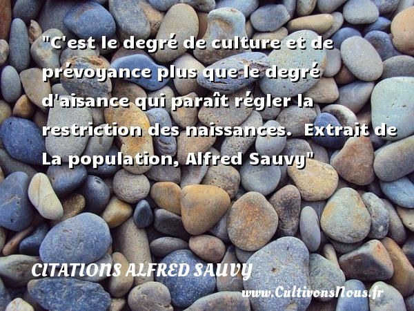 citations alfred sauvy