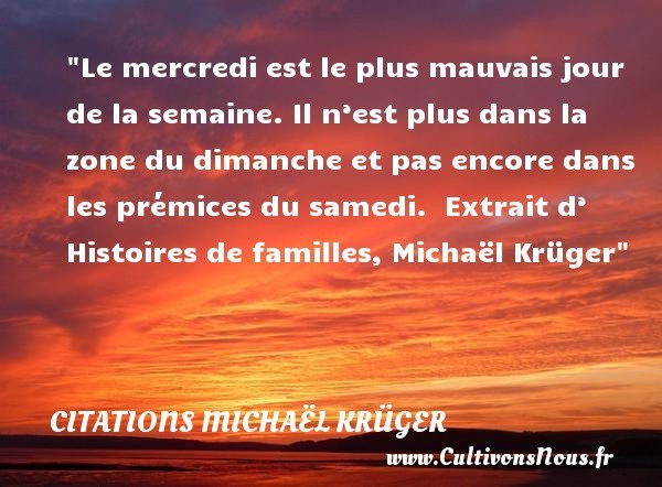citations michaël krüger