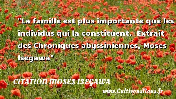 citation moses isegawa