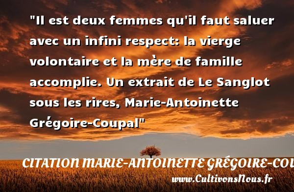 citation marie-antoinette grégoire-coupal