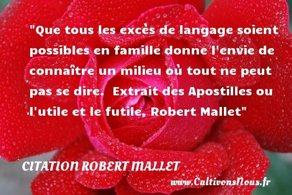 citation robert mallet