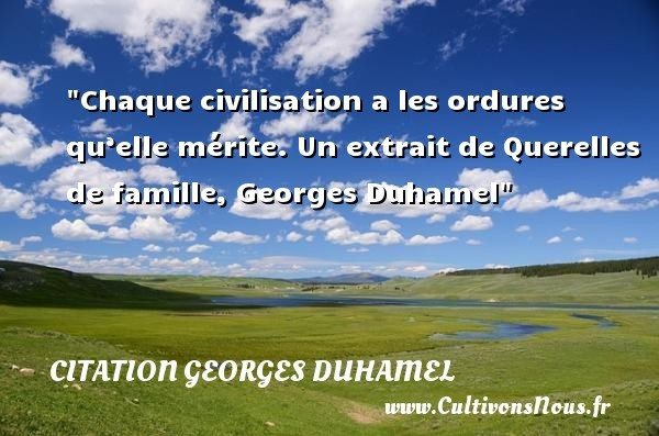 citation georges duhamel